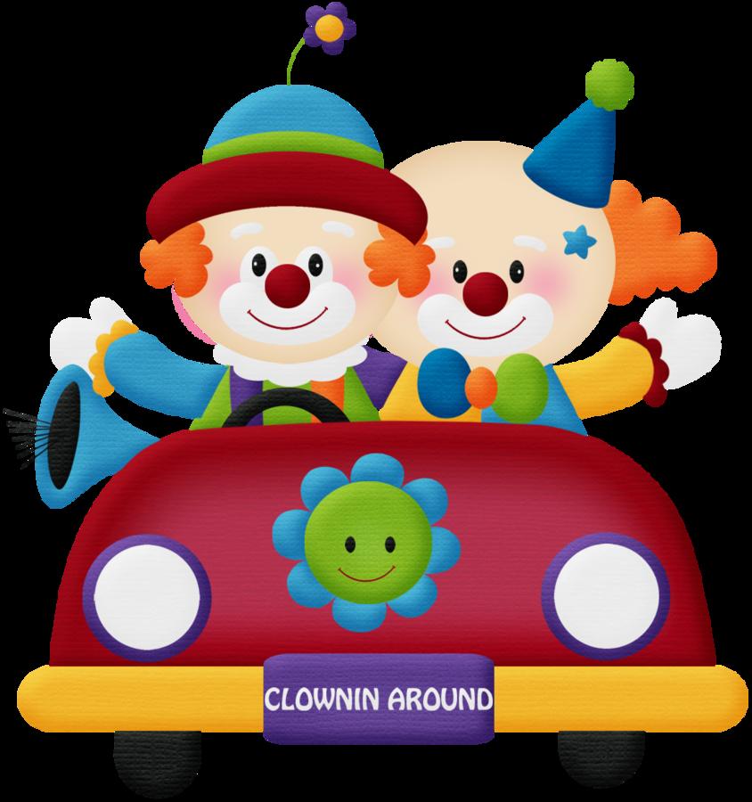 Clipart car circus. Circo aw clown png