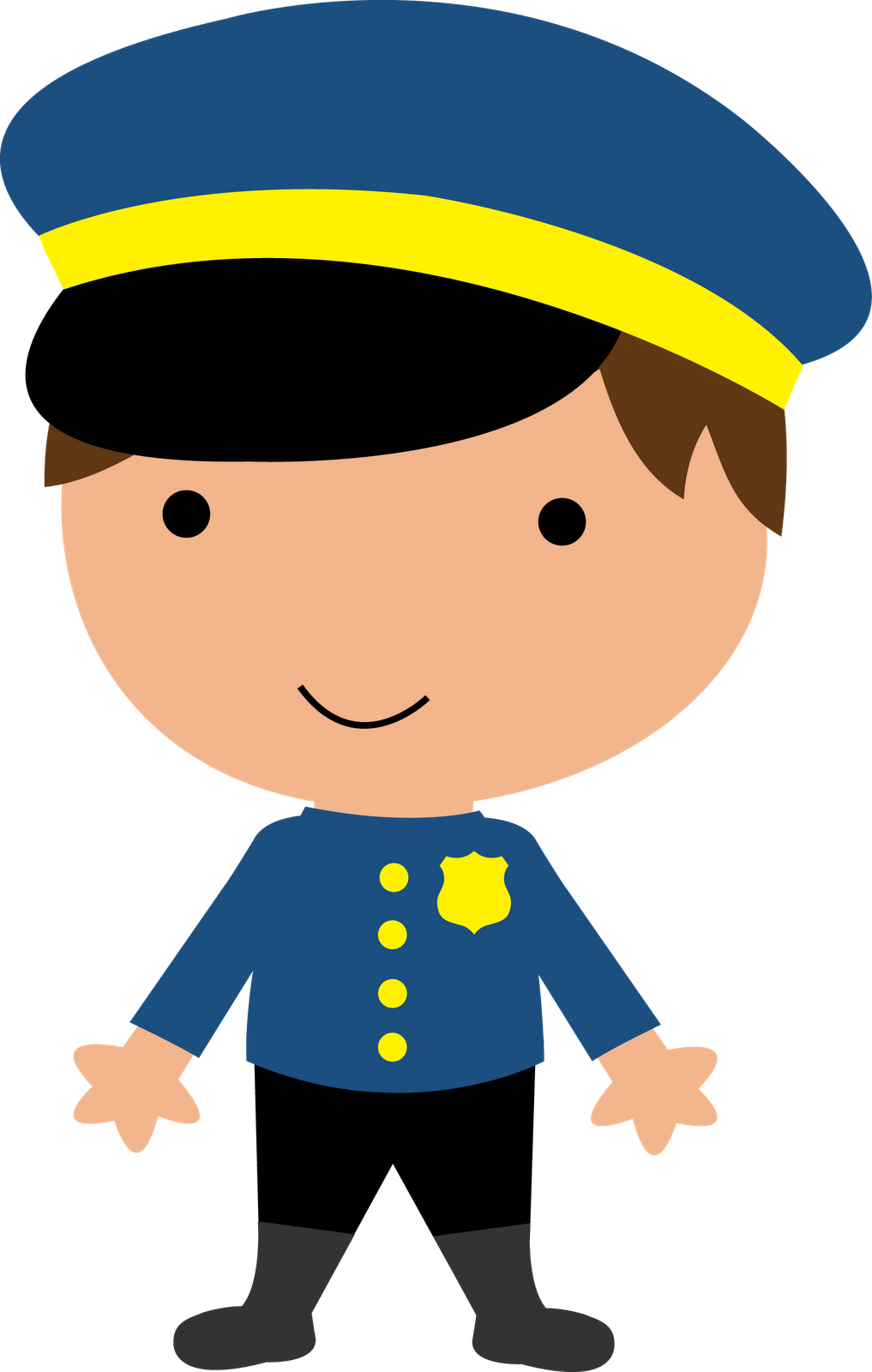 Policeman community theme workers. Kid clipart police
