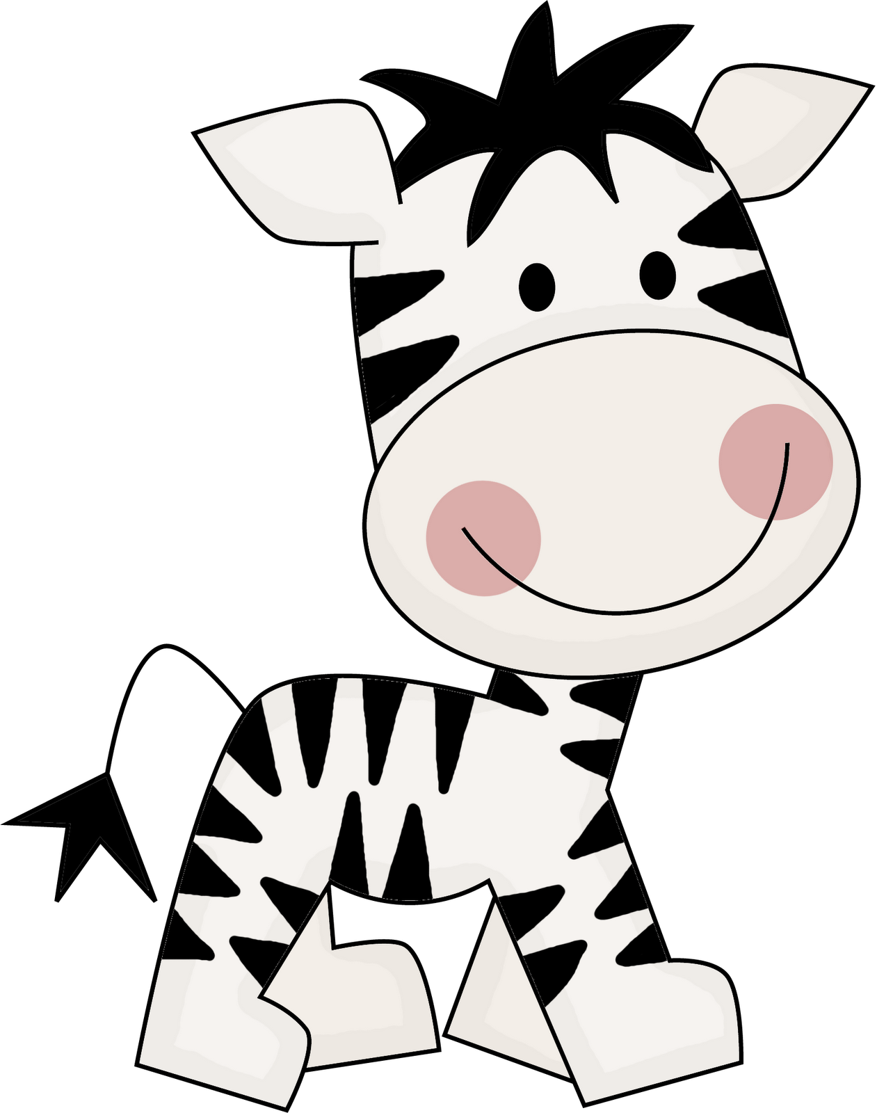 Cute zebra illustration google. Woodland clipart frond