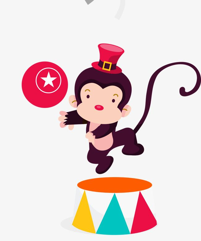 Circus clipart monkey. Gules png