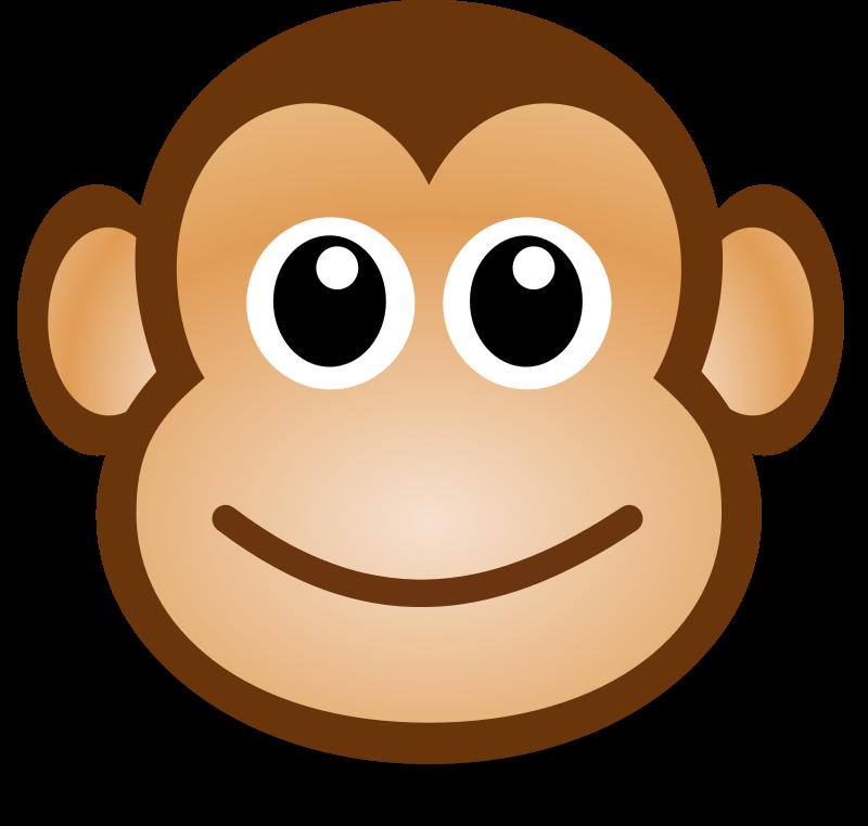 Cartoon head . Circus clipart monkey
