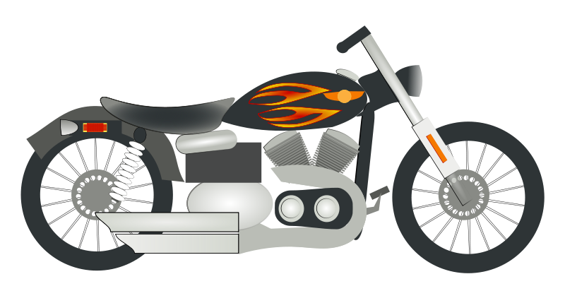 collection of free. Motorcycle clipart vintage motorcycle