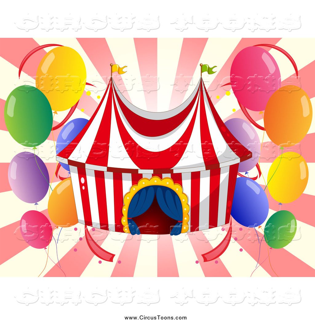 Of a big top. Circus clipart party tent