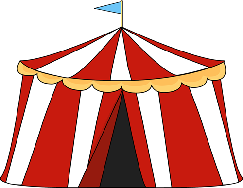 Clip art image theme. Circus clipart party tent