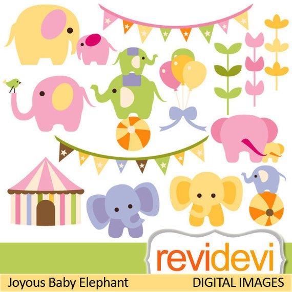 Circus clipart pastel. Elephant sale colors mother
