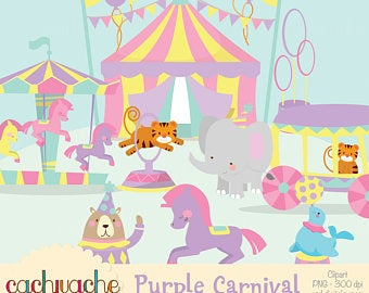 Circus clipart pastel. Cute etsy