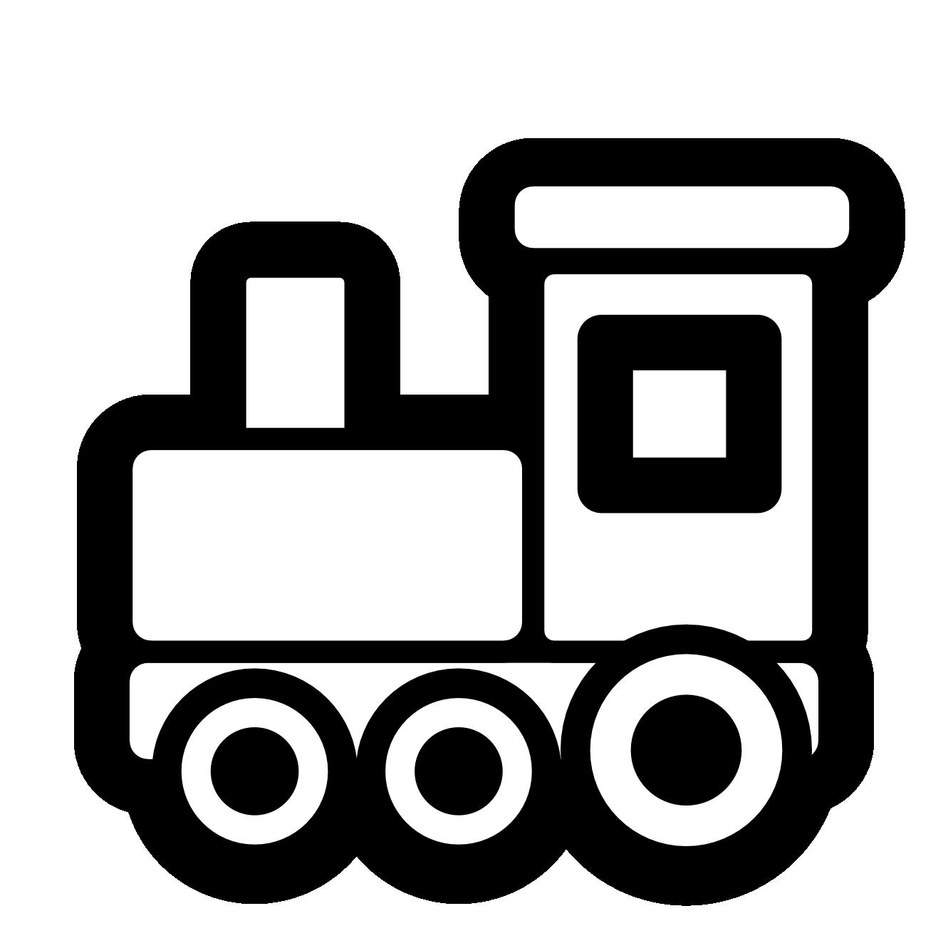 Circus clipart platform. Train black and white