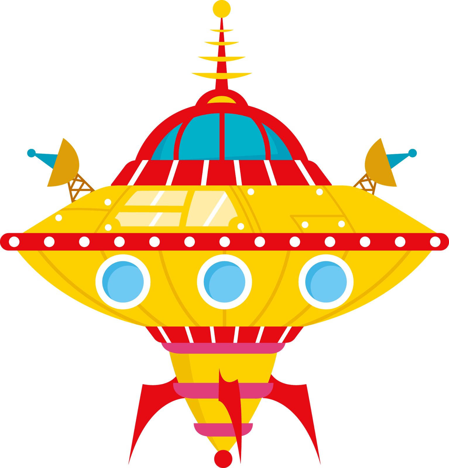 Giggle and print aliens. Spaceship clipart rainbow