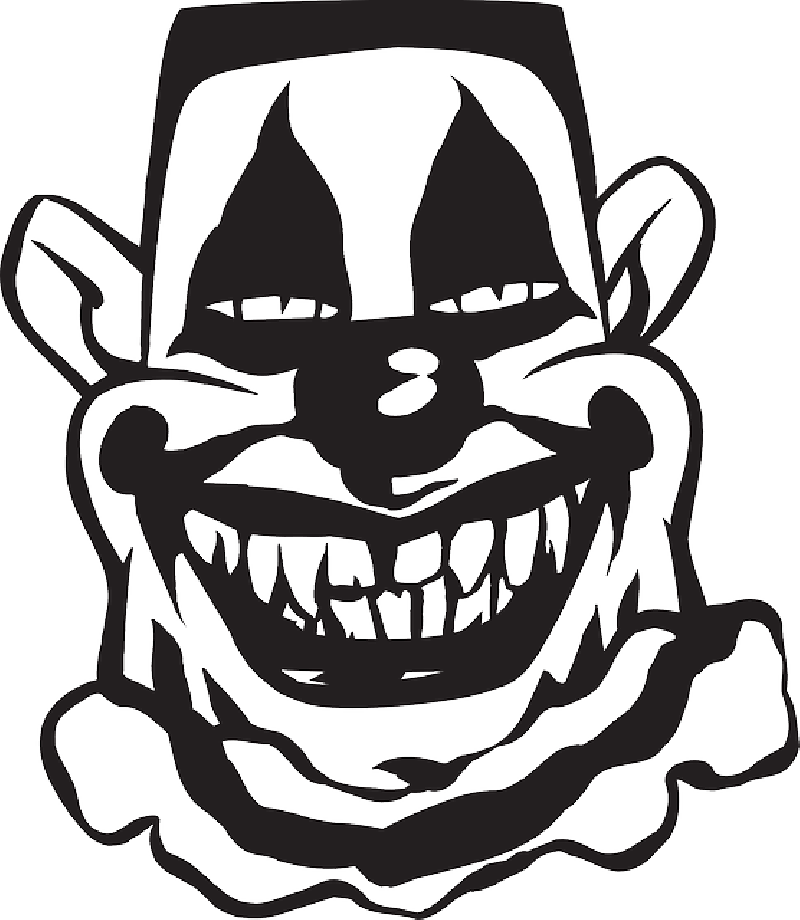 Scary clown at getdrawings. Circus clipart silhouette