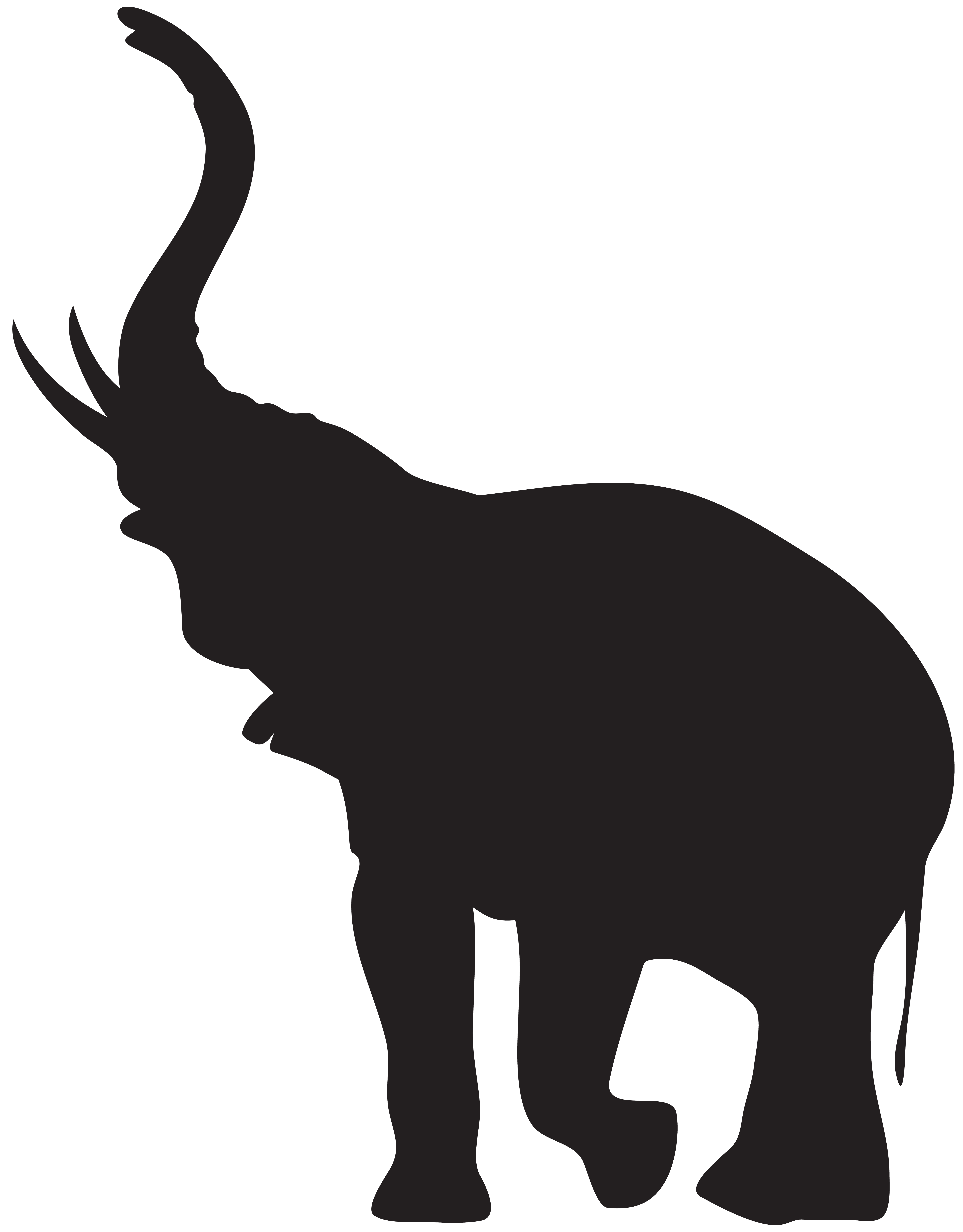 Hearts clipart elephant. Silhouette at getdrawings com