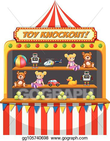 Eps illustration a funfair. Circus clipart stall