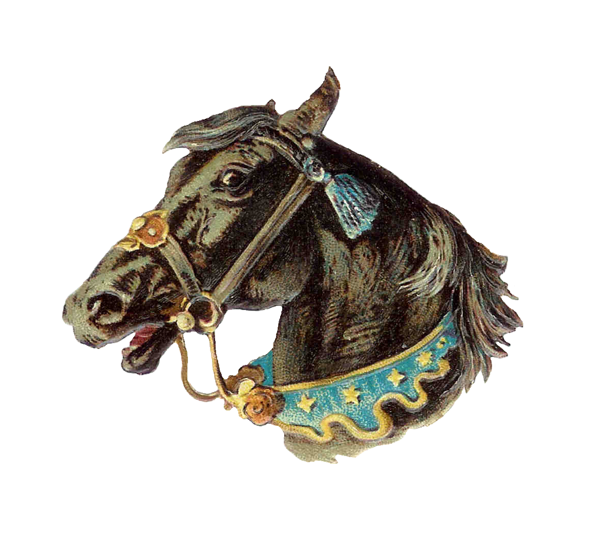 Circus clipart stall. Vintage horse valentine clip