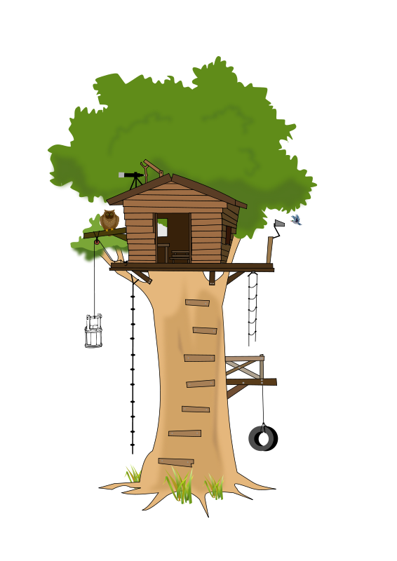 Clipart birthday tree. Free house cartoon clip