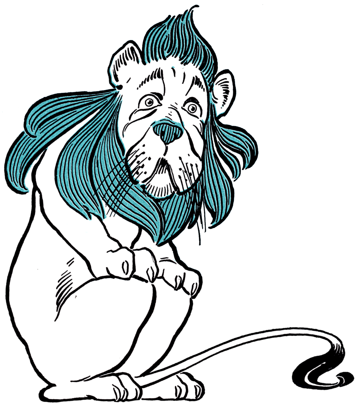 Witch clipart wizard oz. Cowardly lion wikipedia