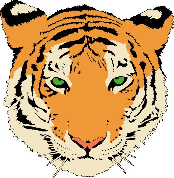 Head clipart cheetah. Tiger face clip art