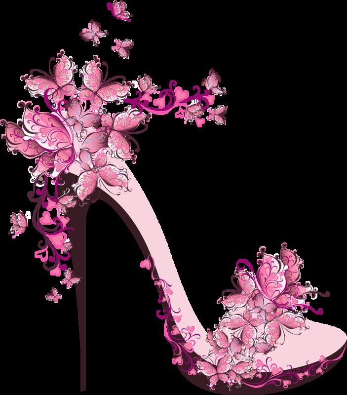Clip art pinterest . Flower clipart shoe