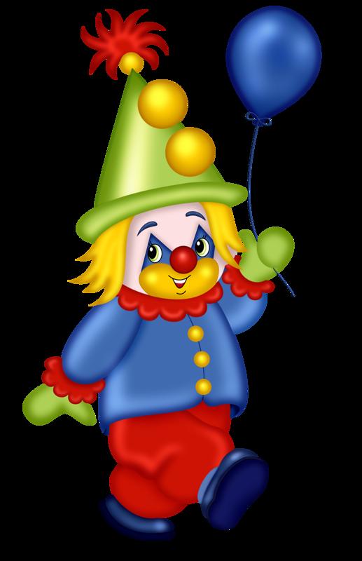 Cute circus theme pictures. Clown clipart blue