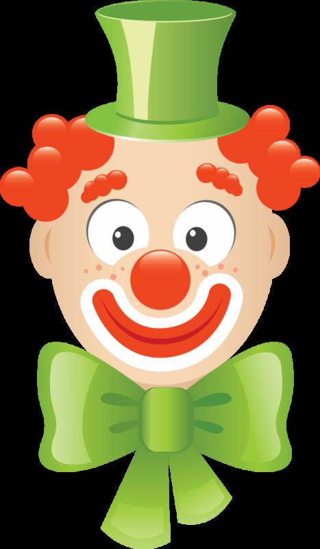 Circo palha o e. Clown clipart green
