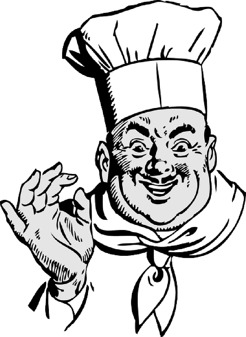 Toque people happy lady. Hand clipart chef
