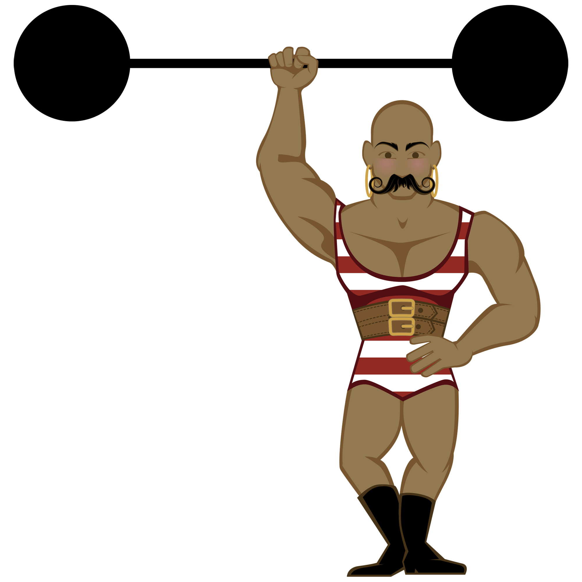 Weight clipart drawn. Circus weightlifter pencil and
