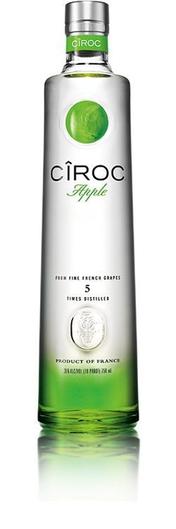 Personalised apple vodka engraving. Ciroc bottle png