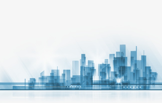 City clipart. Silhouette sketch png image