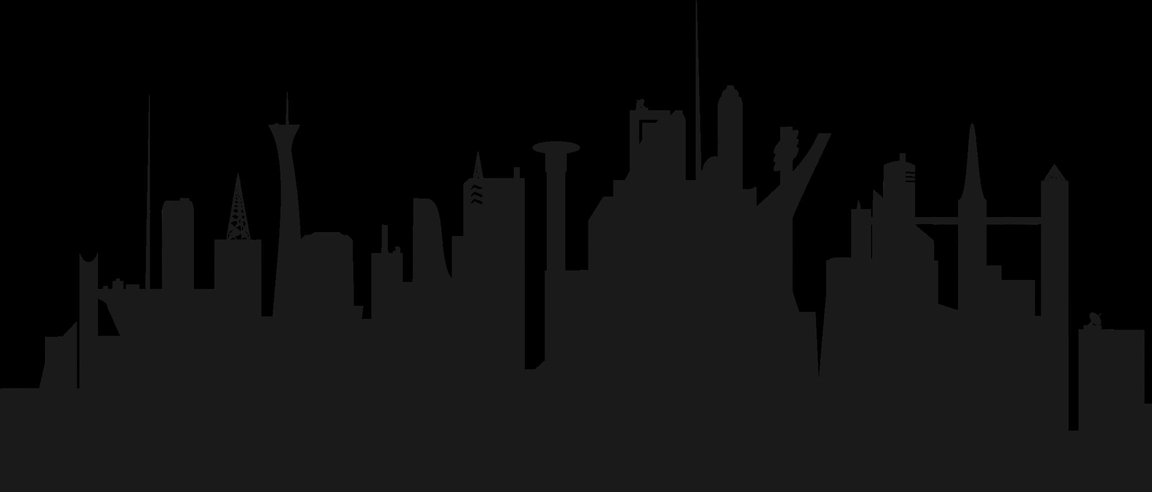 City clipart. New york skyline silhouette