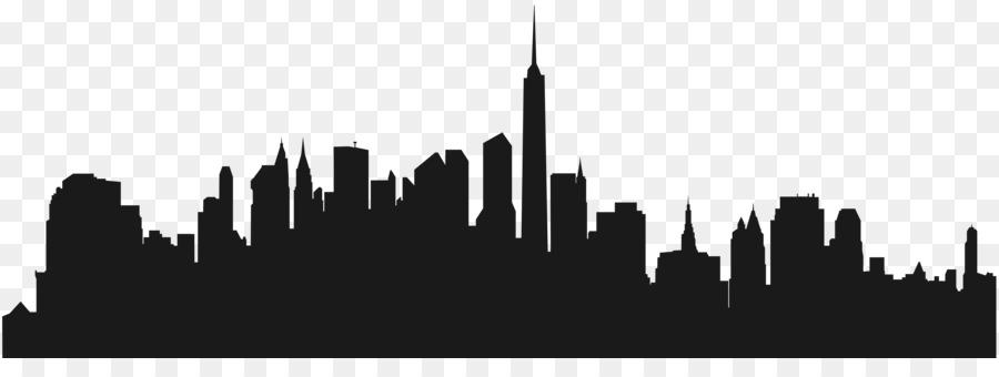 Skyline clipart. New york silhouette clip