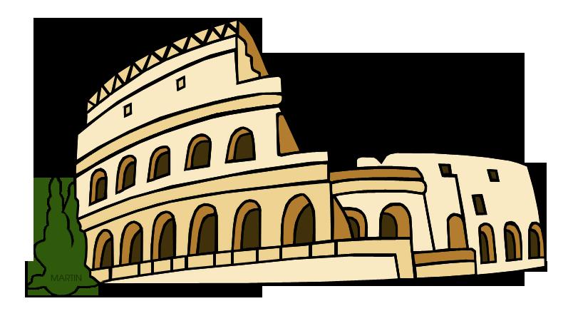 Rome clipart coliseum. Architecture clip art by