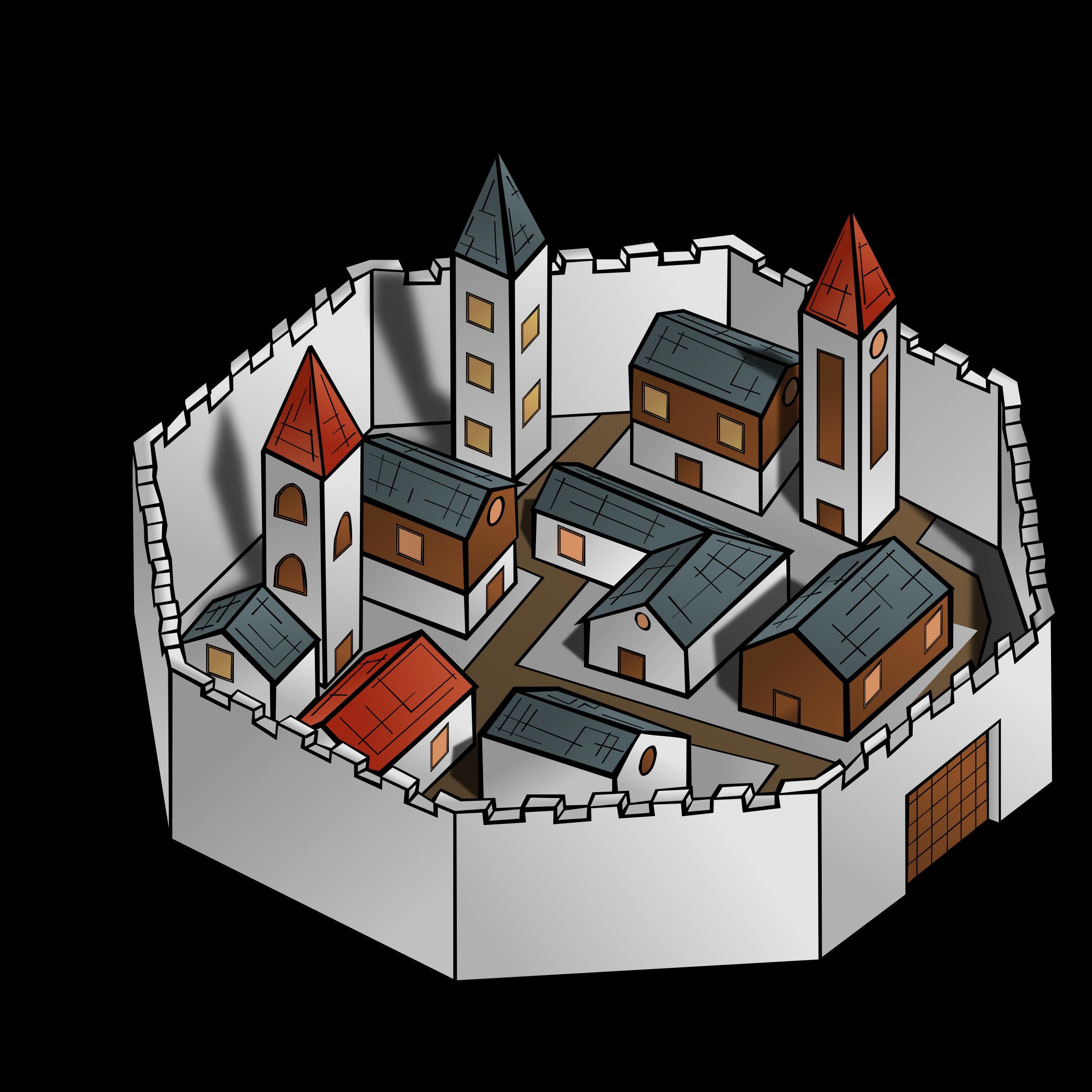 City clipart architecture. Rpg map symbols big