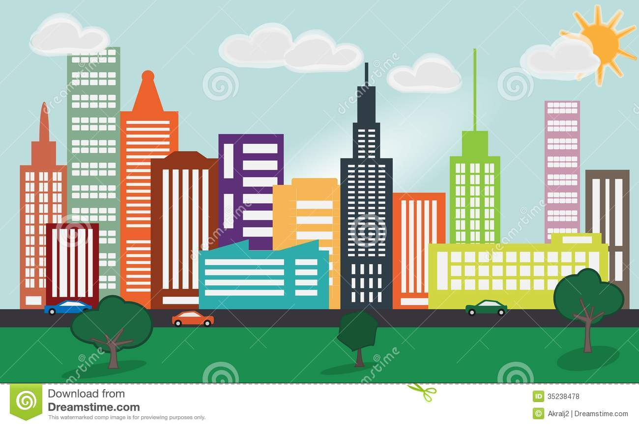 Cityscape clipart urban development.  city clipartlook
