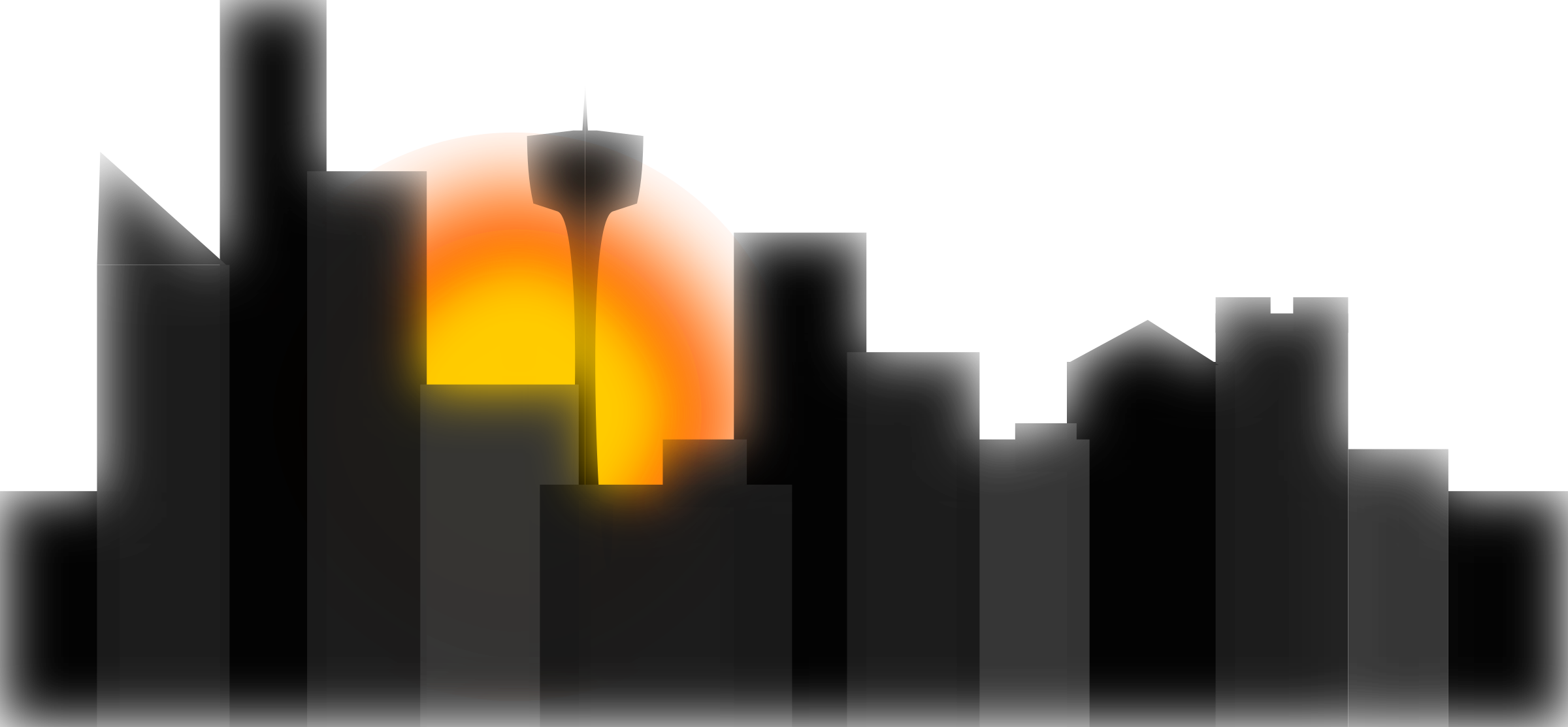 City big image png. Sunset clipart sunset sky