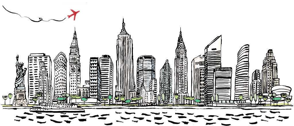 City clipart black and white. New york png transparent