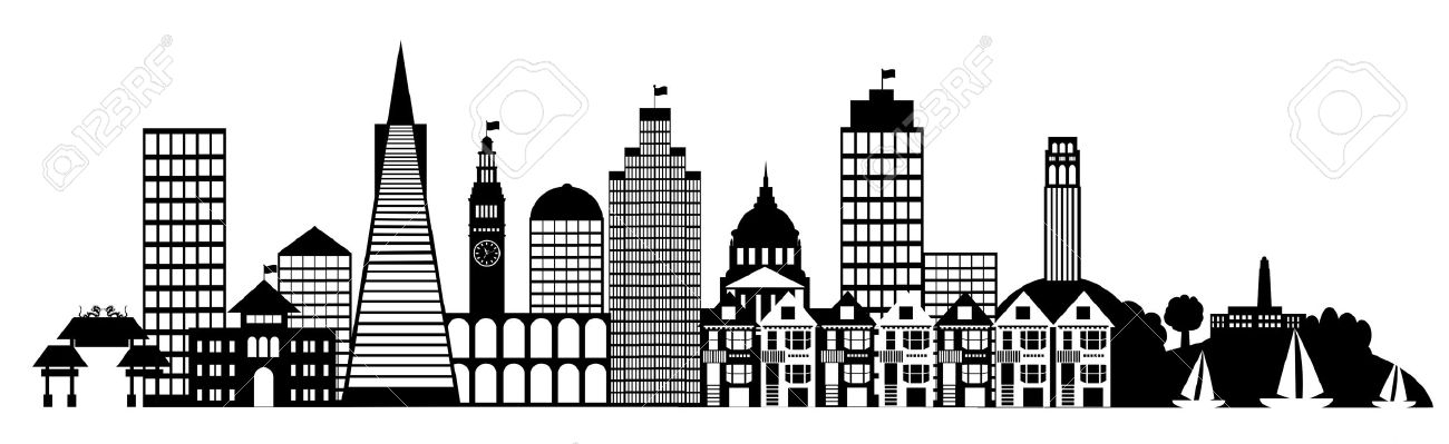 Free download clip art. City clipart black and white
