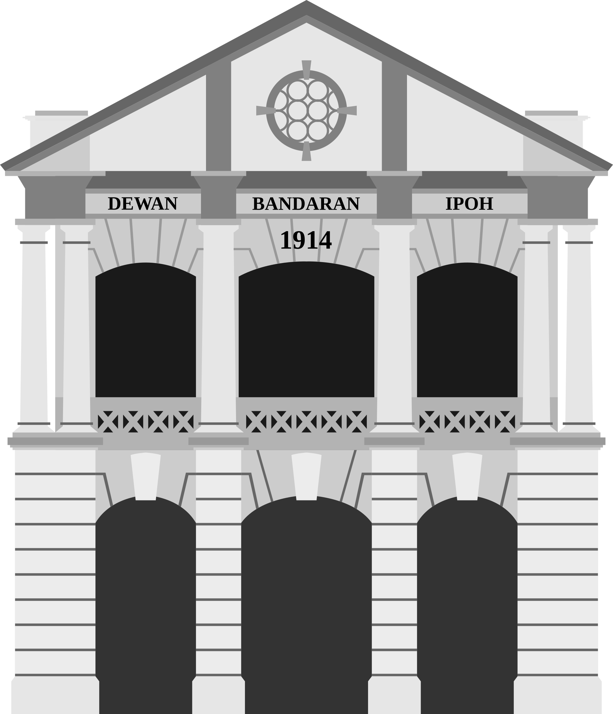 Tower clipart old. Ipoh city hall building