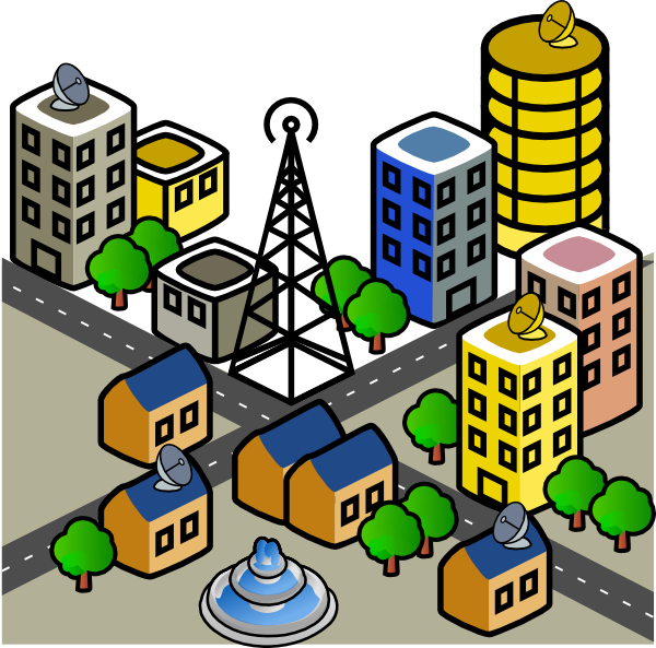 community clipart town