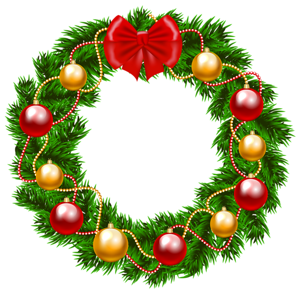 December clipart wreath. Christmas png image pinterest