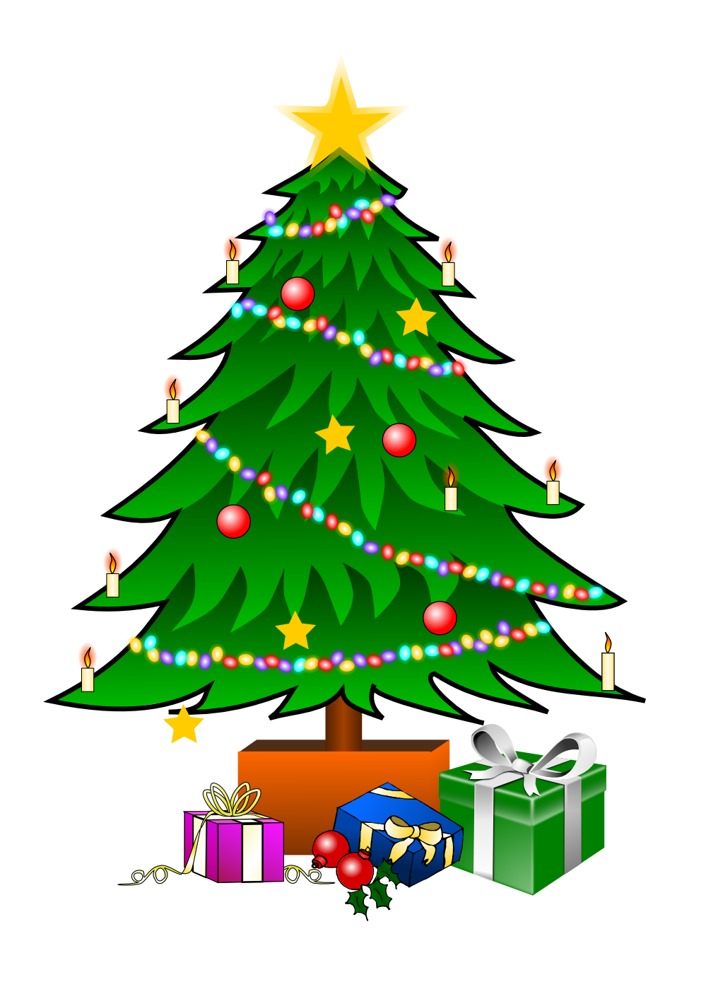 Number 1 clipart christmas. This nice tree with