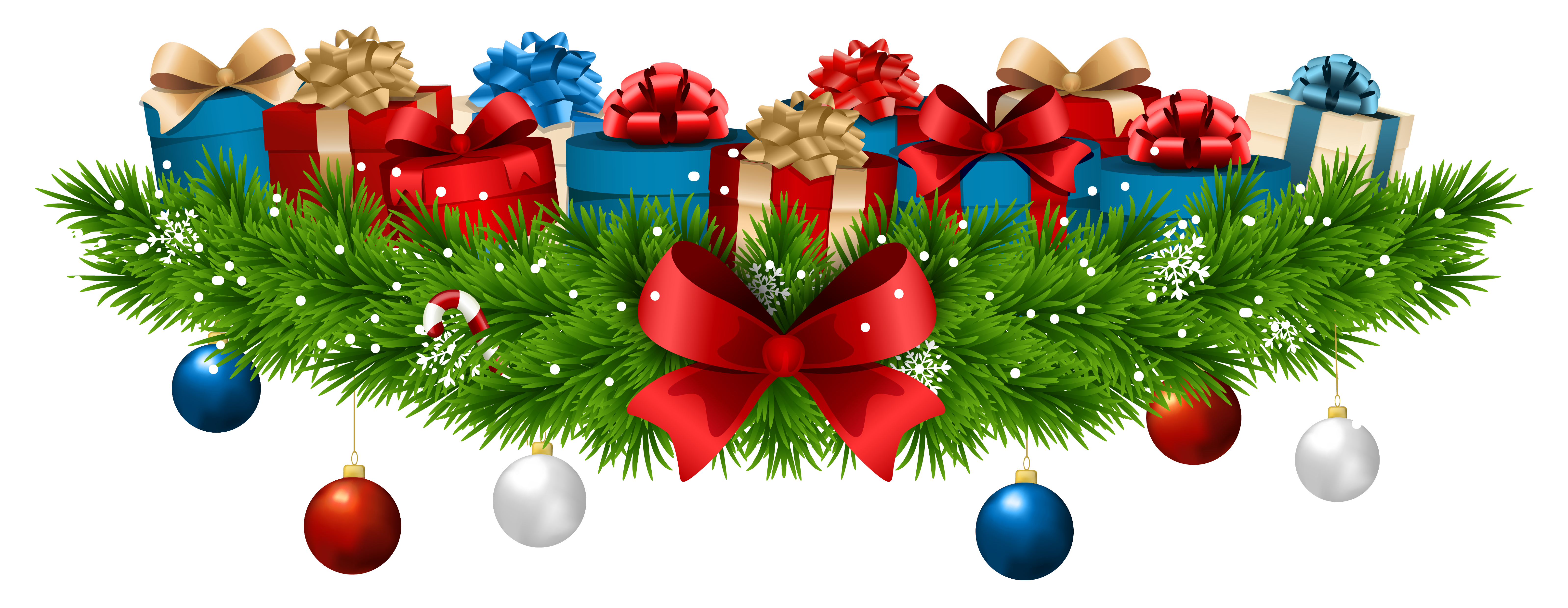 Sleigh clipart tree lighting. Christmas decoration with gifts