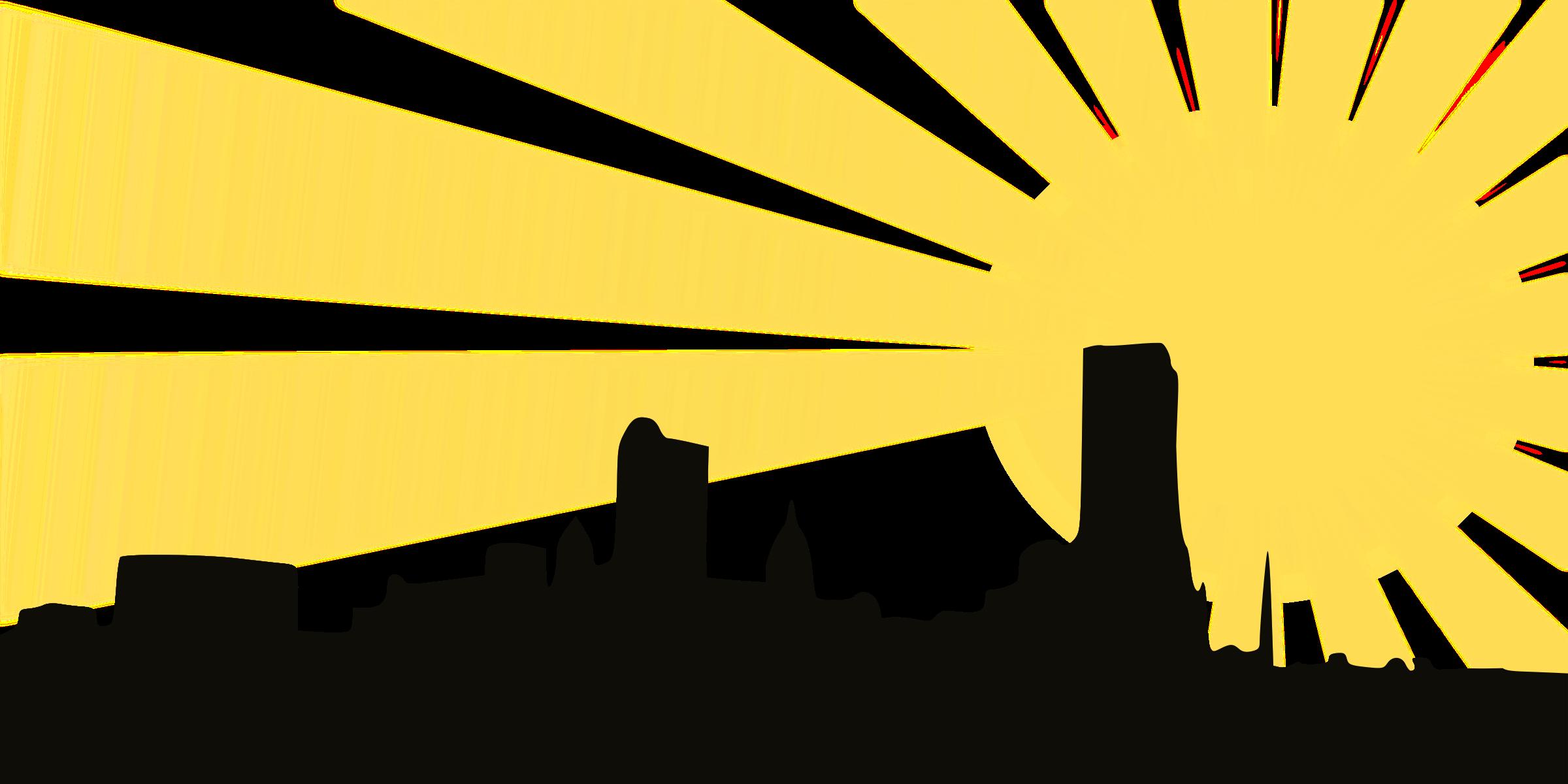 sunset clipart city
