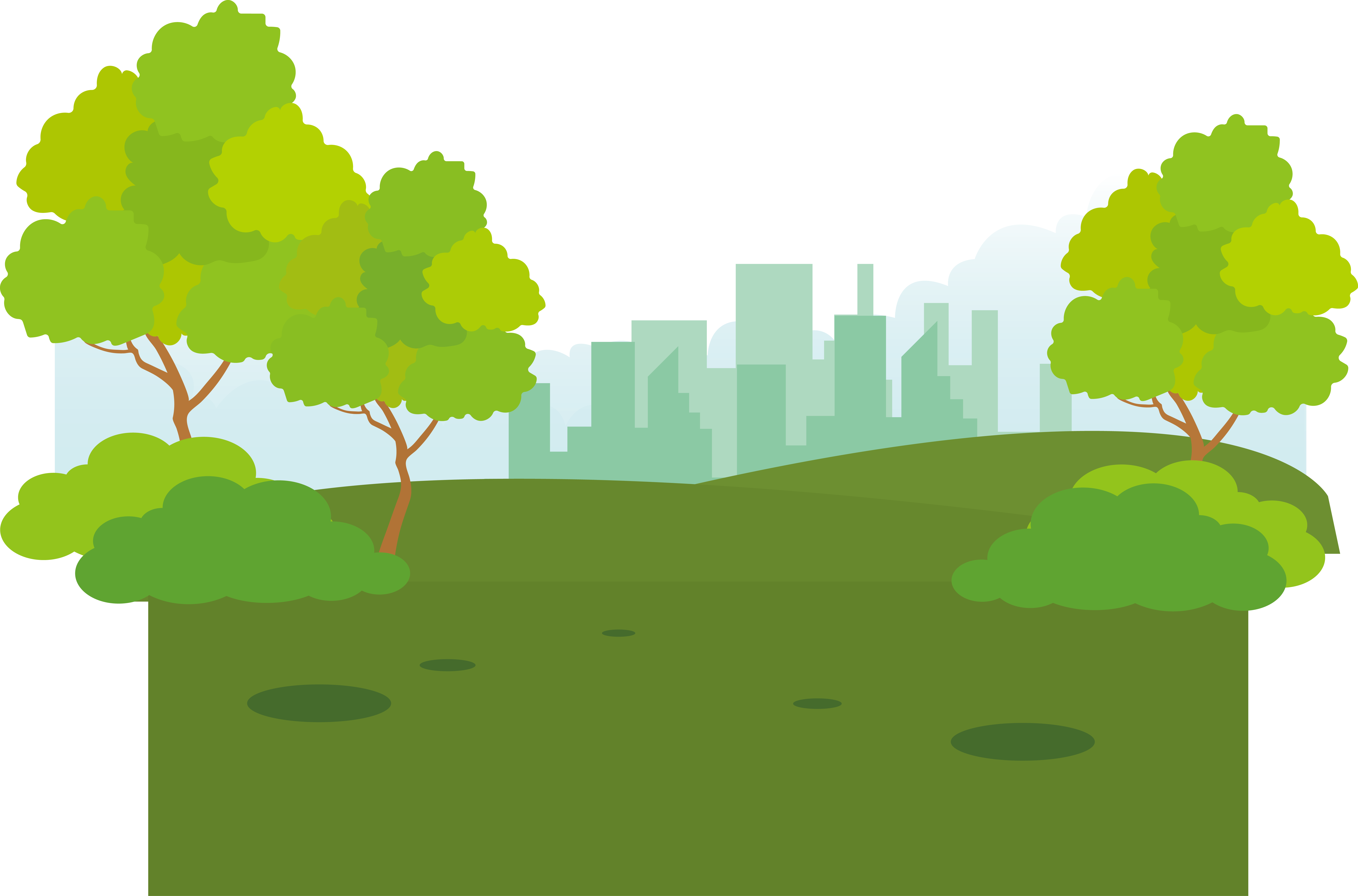 Euclidean vector city transprent. Park clipart small park
