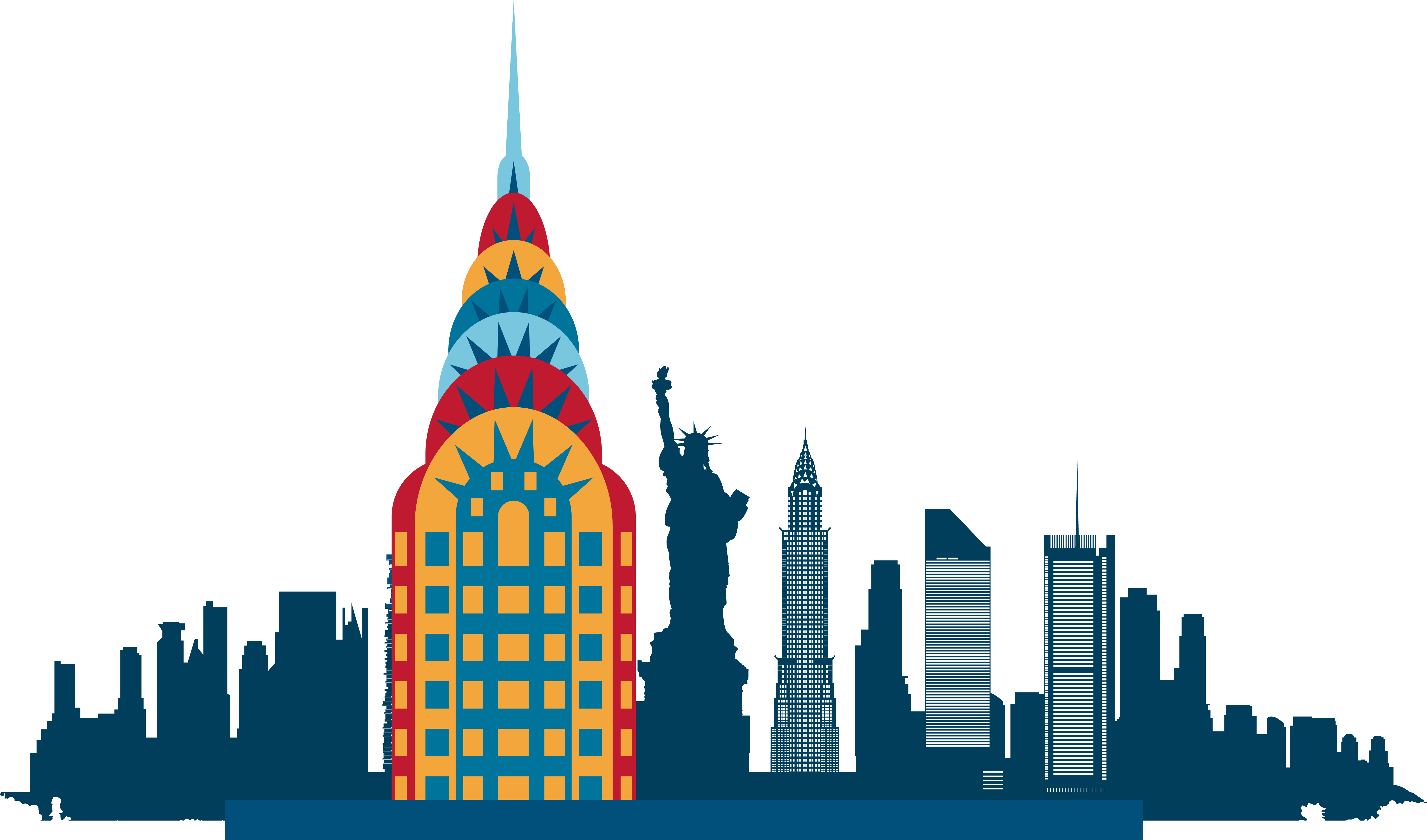 Silhouette nyc skyline at. London clipart landmark