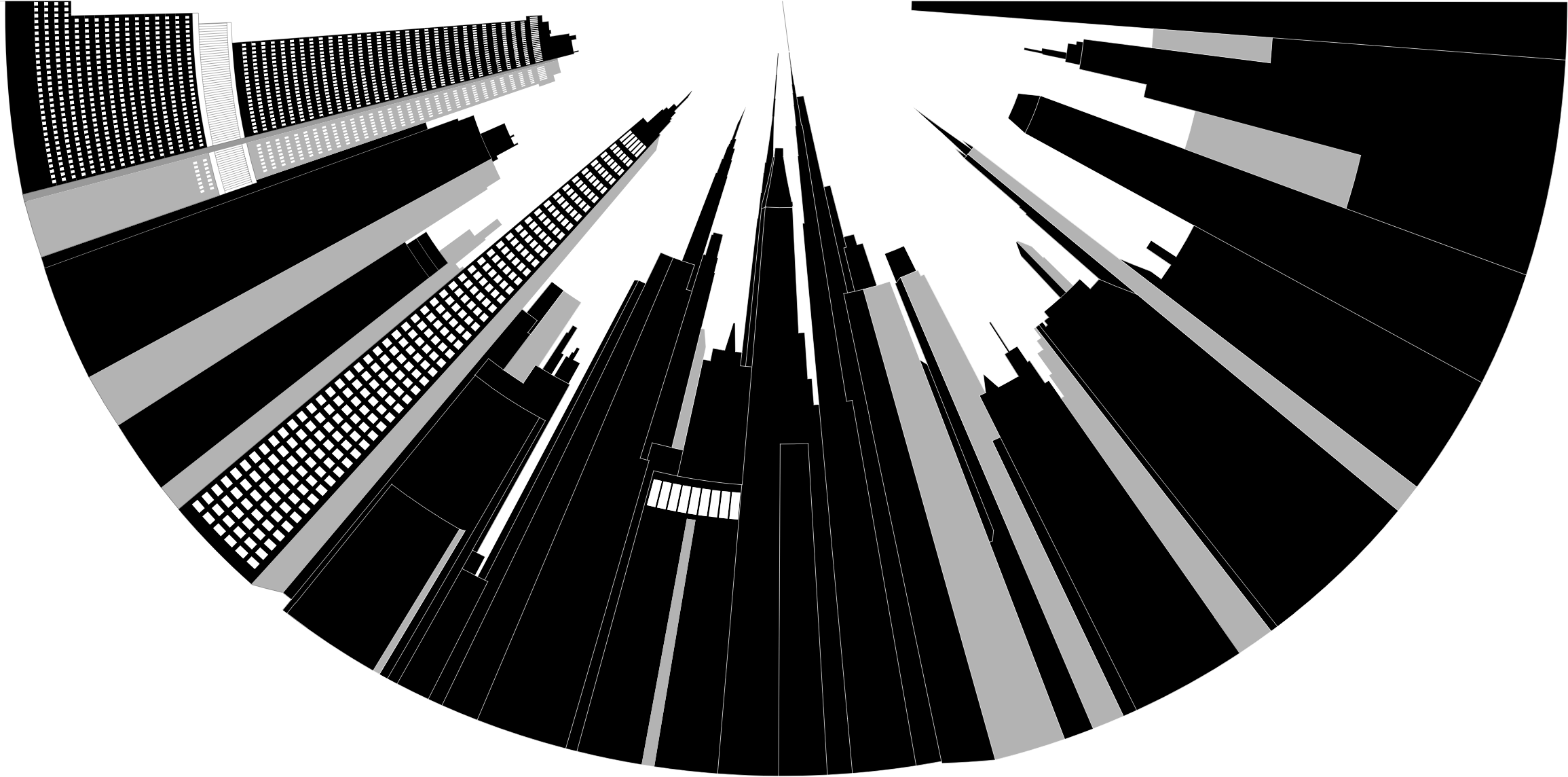 Distorted city skyline big. Cityscape clipart building infrastructure