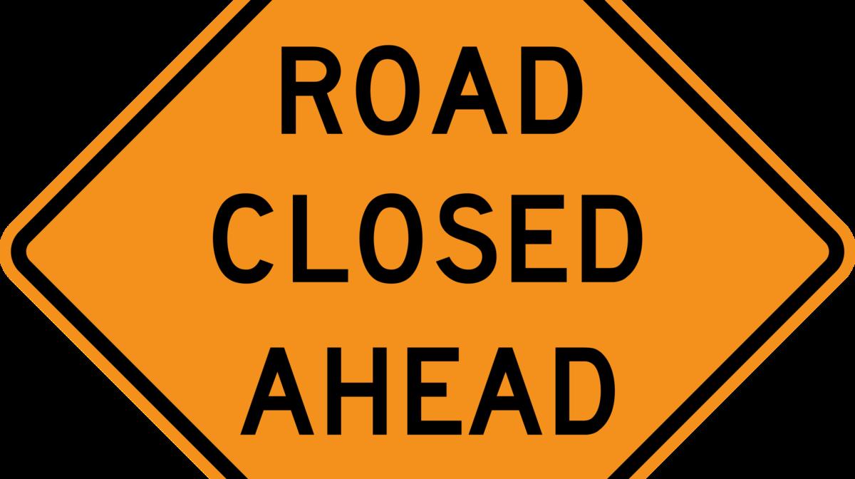 City set for closure. Clipart road open road