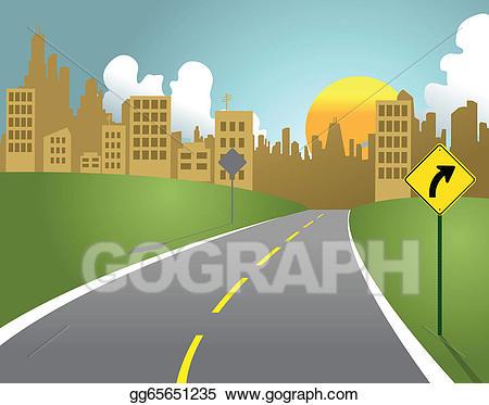 Clipart road city road. Clip art vector stock