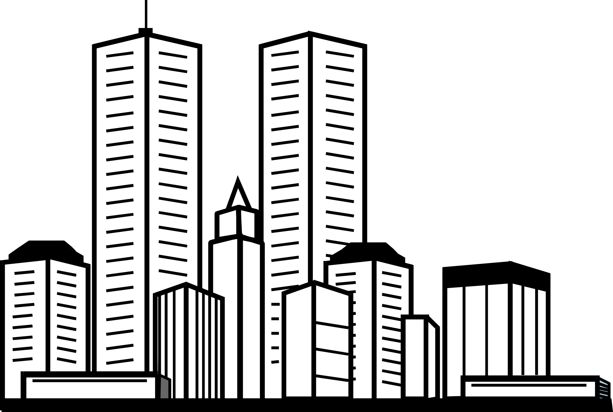 Skyscraper sheets yahoo image. Tower clipart coloring page
