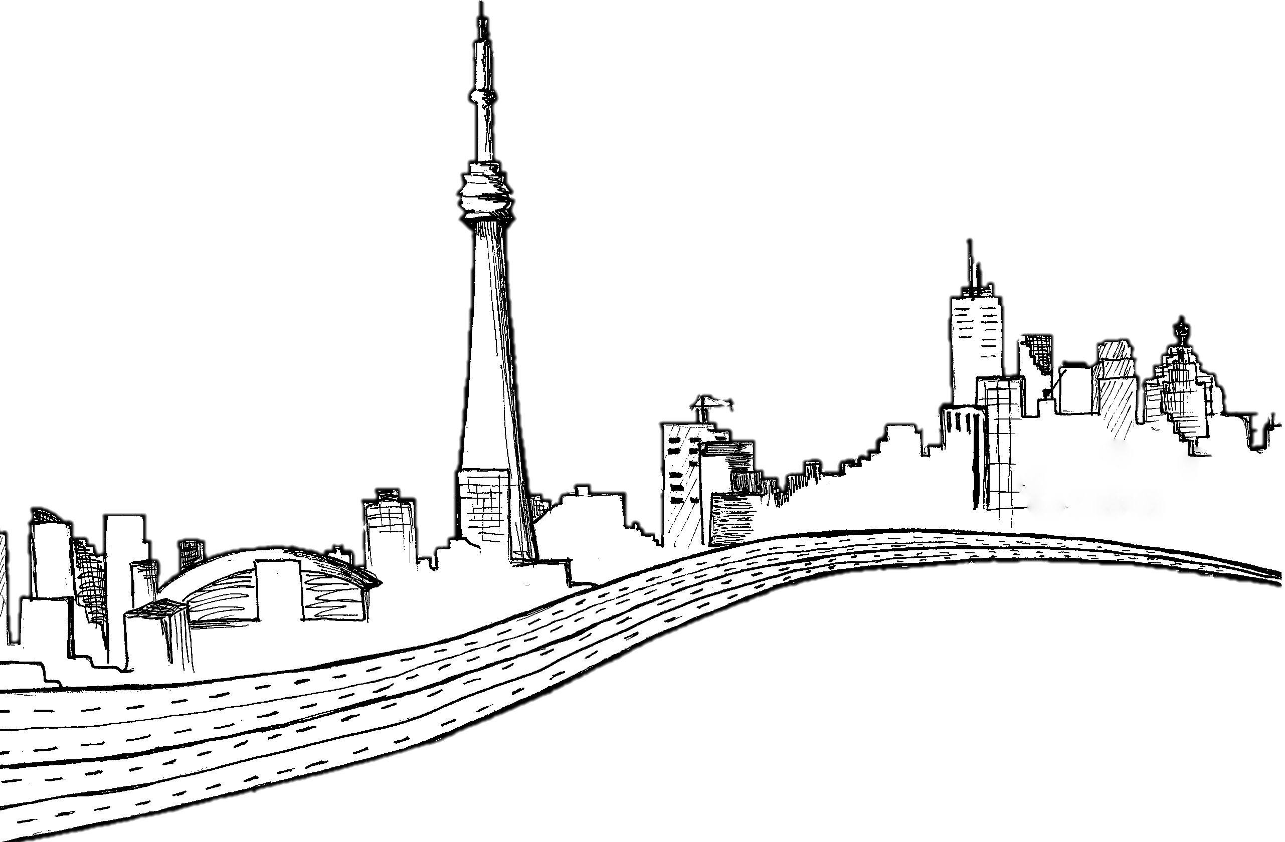 Skyline drawing at getdrawings. Future clipart future city