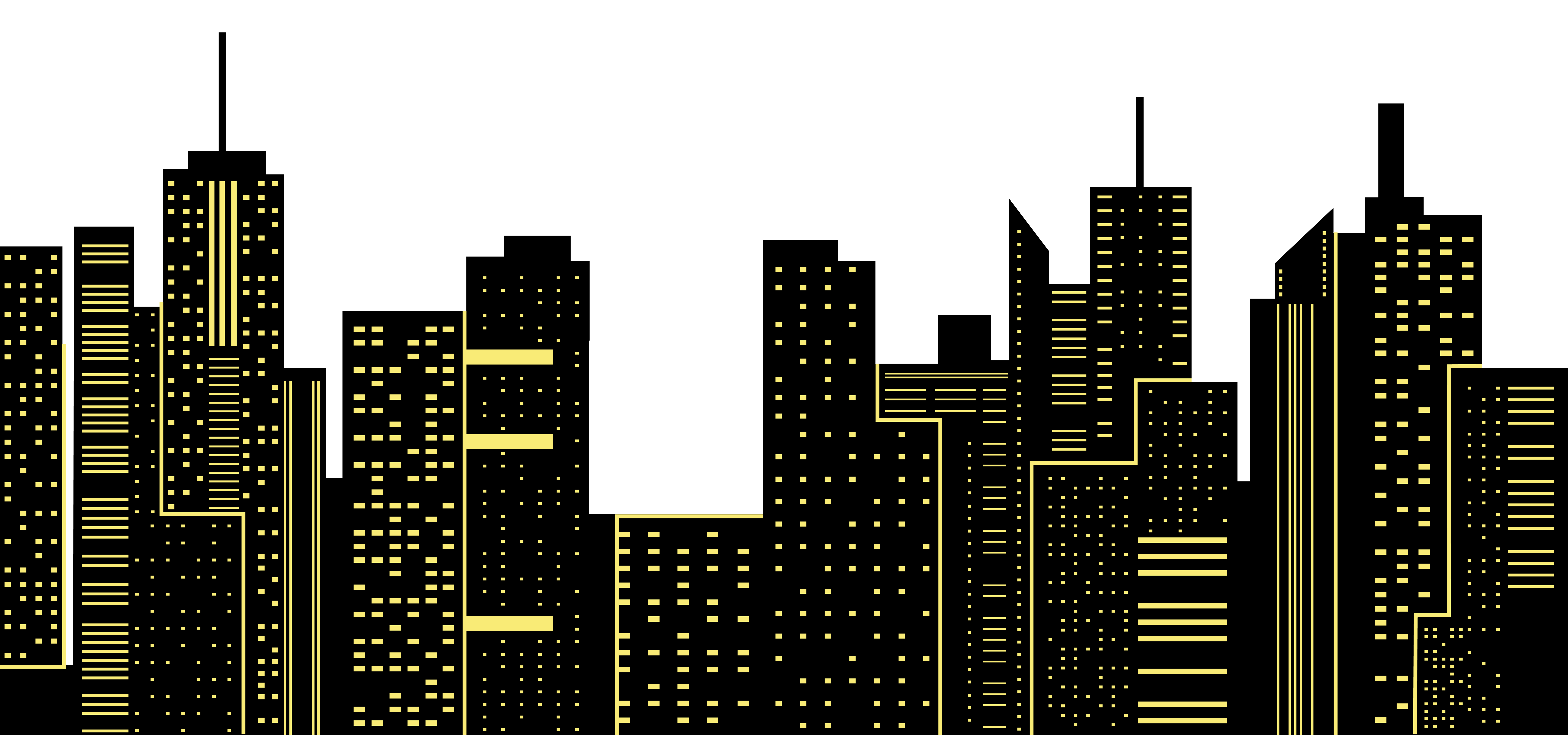 Night clipart city. Silhouette png clip art