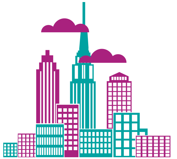 New york desktop backgrounds. City clipart downtown