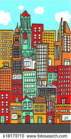 City clipart downtown. Free download clip art